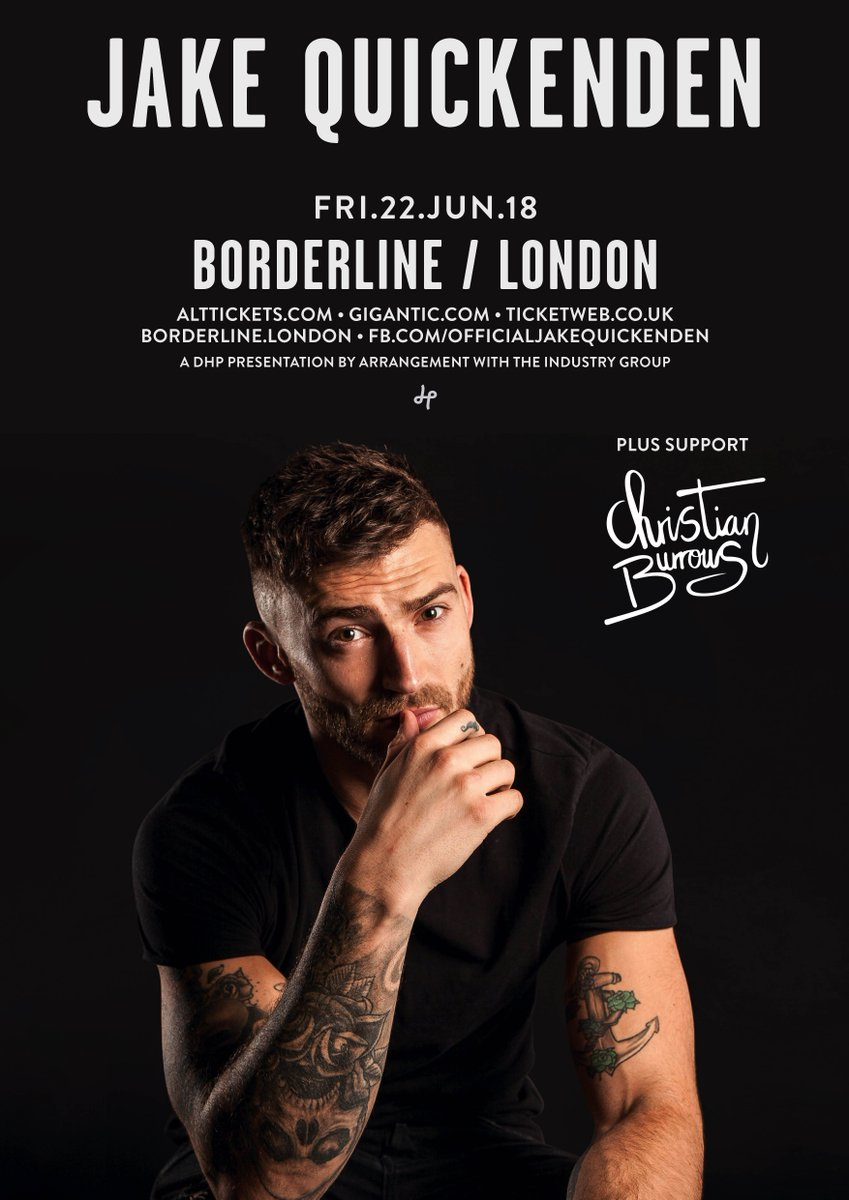 We are delighted to announce that supporting @JakeQuickenden at his show here at Borderline will be @chrisburrows_03! Tickets for the show are still available and can be purchased via @TicketWebUK! 👉 bit.ly/JakeQuickenden…