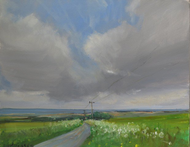 Painted near Wharram-le-Street in the Yorkshire Wolds on Tuesday. 30x24'' oil on canvas. https://t.co/Q1LSy35ScR https://t.co/BxKuOhaH36