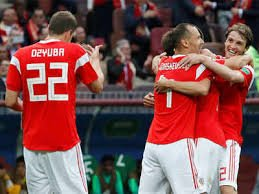 Russia were 1st team ever to score twice in stoppage time in a World Cup match. They were also the 1st on record (1966 onwards) to win a World Cup game by more than 4 goals with as little as 39% possession. Daily World Cup numbers column: thetimes.co.uk/edition/sport/…
