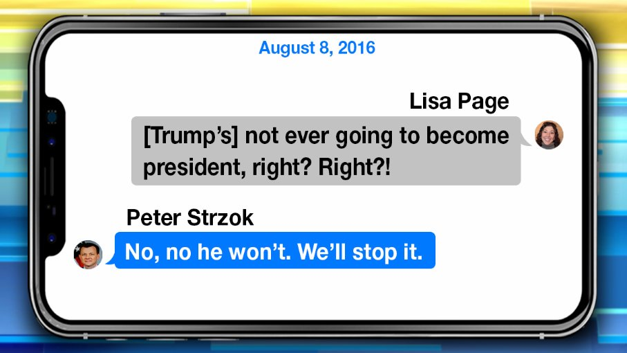 IG REPORT BOMBSHELL: Anti-Trump FBI agent Peter Strzok texted his lover Lisa Page 'we'll stop' Trump from becoming president
