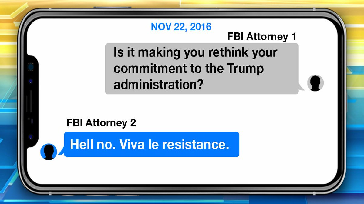 "DOJ IG report finds that an FBI lawyer told a bureau employee ""Viva le resistance"" after President Trump was elected"