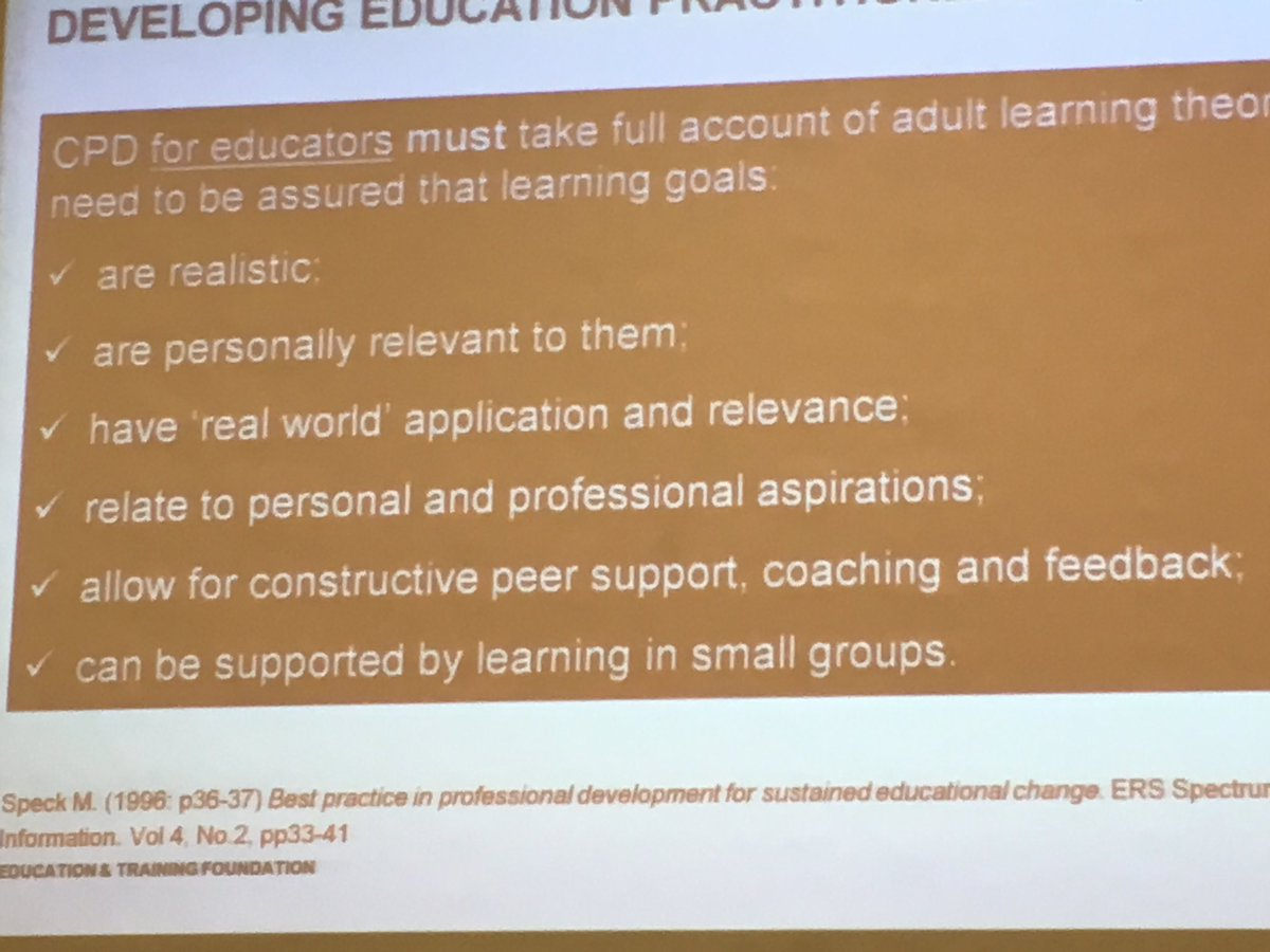 Developing Education Practitioners. CPD learning goals for educators are the same for our learners.