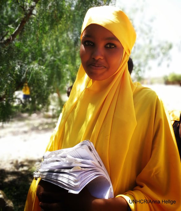 Peace & equality are the things Amina, a 15-year-old refugee from Somalia, wants to bring back home one day, when she becomes President. via @unhcrethiopia #WithRefugees Photo