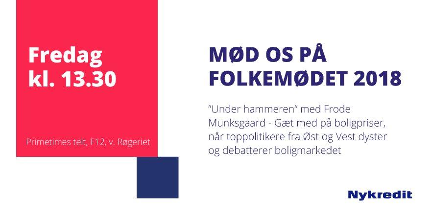 """Kom til """"Under hammeren"""" med Frode Munkgsgaard og se, om du er bedre til at gætte boligpriser end fire politikere. Det er om en time kl. 13.30 på #fmdk ved Primetimes telt F12 v. røgeriet #dkpol #dkbolig https://t.co/u9Dyvx8Bl8"""