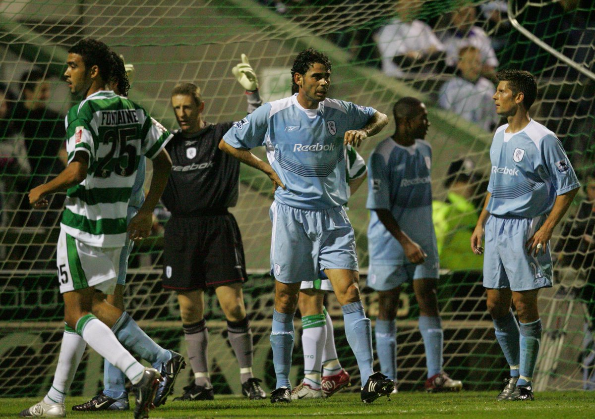 They always like to check out Huish Park before they accept a big job New Spanish Manager Fernando Hierro playing for Bolton Wanderers in a League Cup tie at Husih Park in 2004 <br>http://pic.twitter.com/rfxMw8opqG
