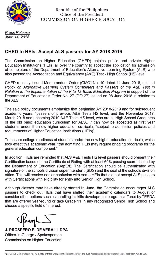 Official CHED on Twitter: