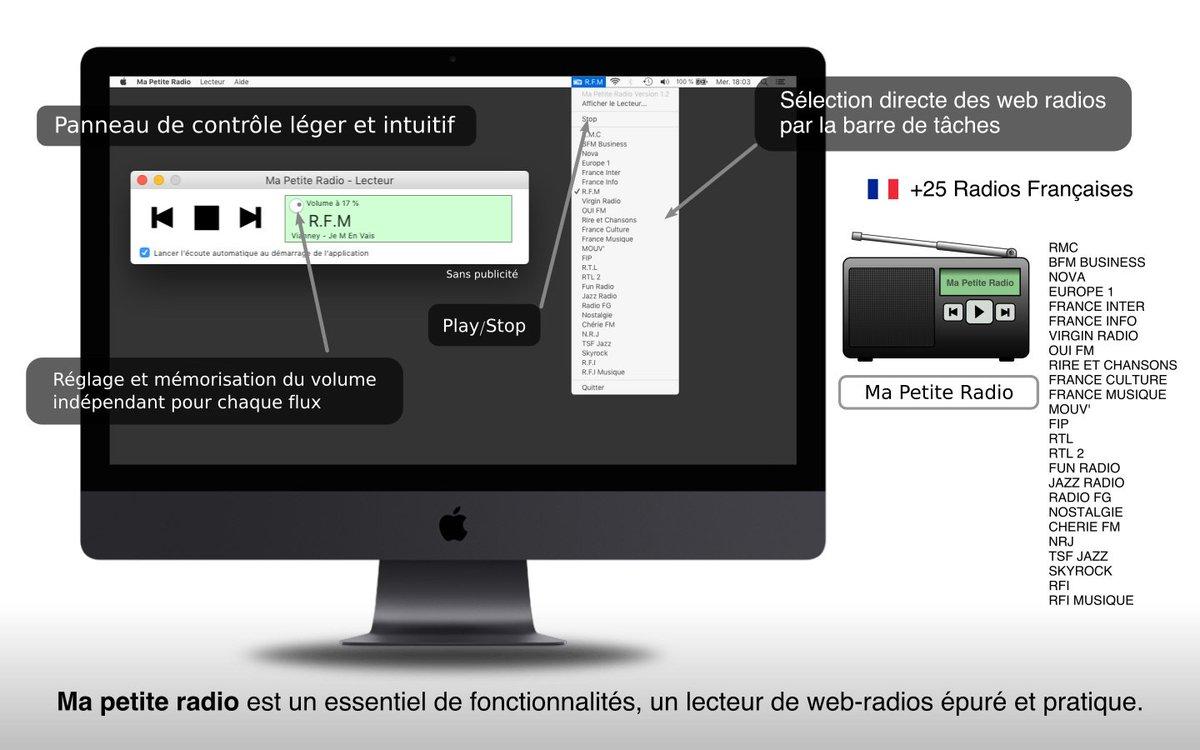 """+ de 25 radios Françaises sur votre Mac avec """"Ma Petite Radio"""" disponible sur l\"""