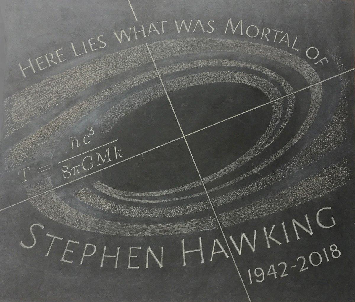 Londra, parata di scienziati e celebrità a @wabbey per la veglia in ricordo di #StephenHawking. Riposerà tra Newton e Darwin. Sulla tomba incisa la sua equazione più celebre, quella che descrive l\