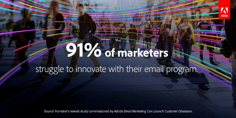 Use email marketing as a strategic asset for innovation with insight from the latest Forrester study. Here's how: adobe.ly/2JPAwkR