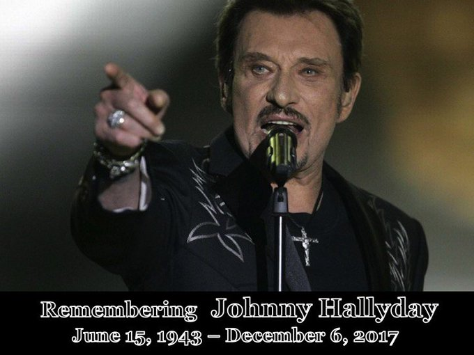 Remembering the amazing French Rock Legend #JohnnyHallyday on what would have been his 75th Birthday! ❤️🌹 Photo