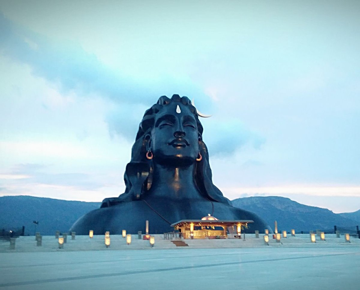 isha foundation on twitter we never get tired of seeing this magnificent face adiyogi at dusk photooftheday ishayogacenter dusk photooftheday ishayogacenter