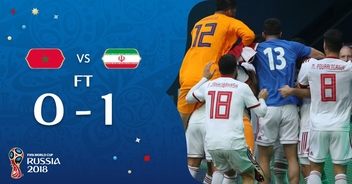 FT | #MAR 0-1 #IRN  ANOTHER dramatic finale at this year's #WorldCup!
