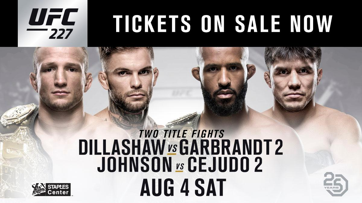 Ready for a rematch? #UFC227 tickets are on-sale NOW! 🎟 bit.ly/2ygVCak