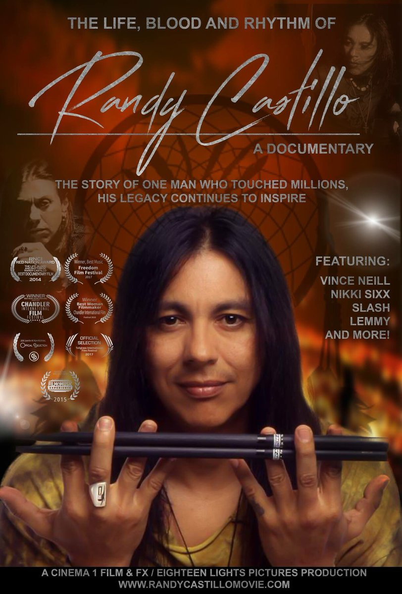 Released today! The Life, Blood and Rhythm of Randy Castillo. Narrated by Lita Ford. Available on @iTunes here: itunes.apple.com/us/movie/the-l…