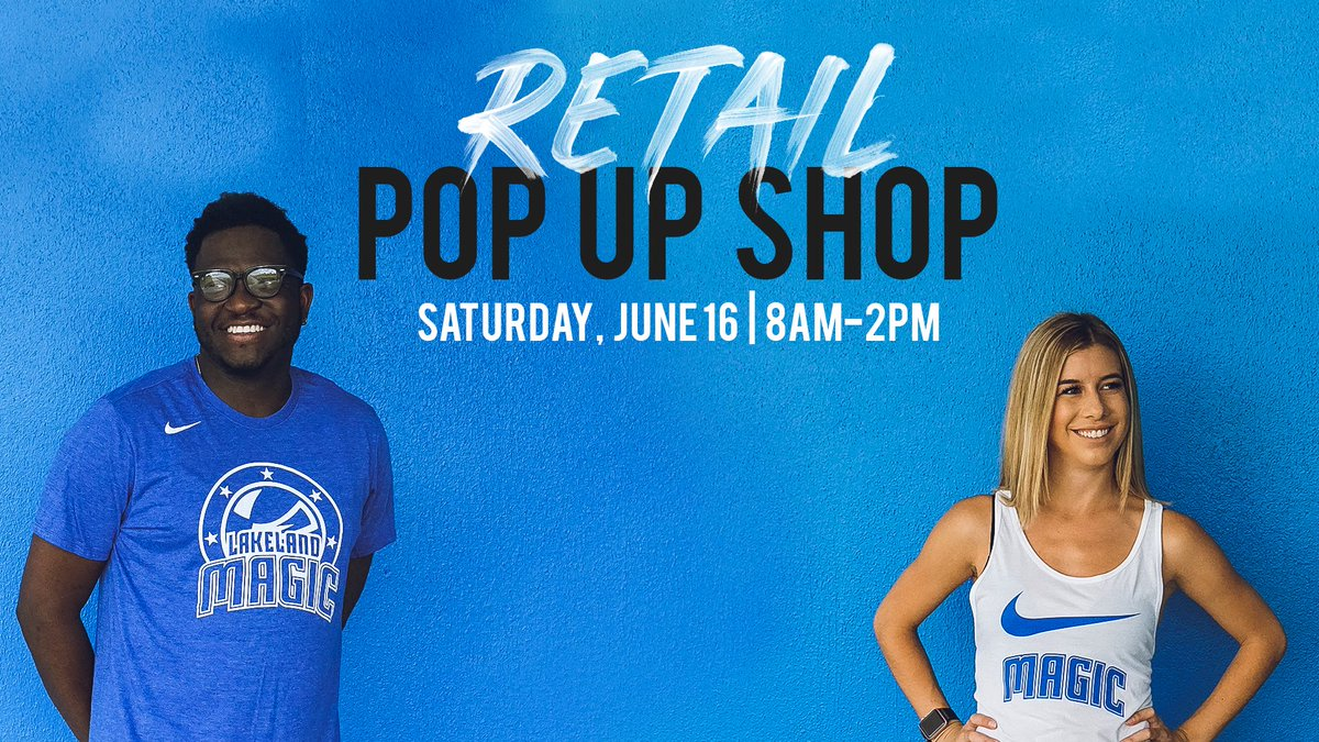 🚨 Pop up shop 🚨 Come see us at the Downtown Lakeland Farmers Market tomorrow from 8am-2pm and get exclusive Lakeland Magic gear. #LKLDMagic
