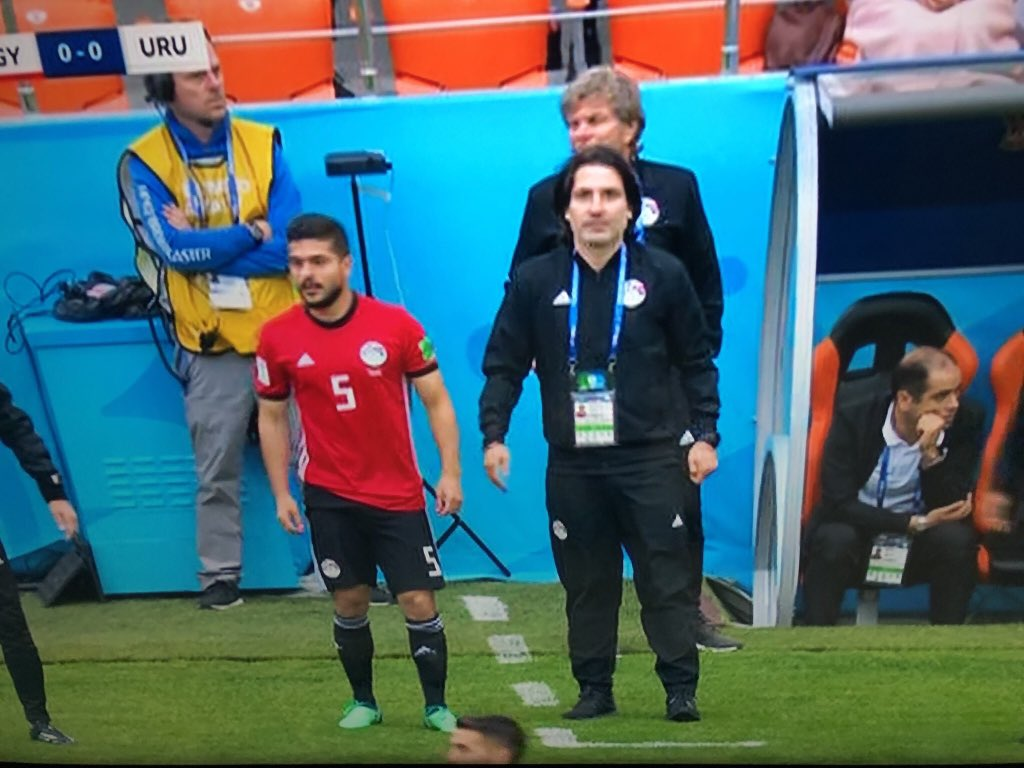 What a special moment!! Our skipper @sammorsy08 on the pitch representing his country at the World Cup!!! 🇪🇬