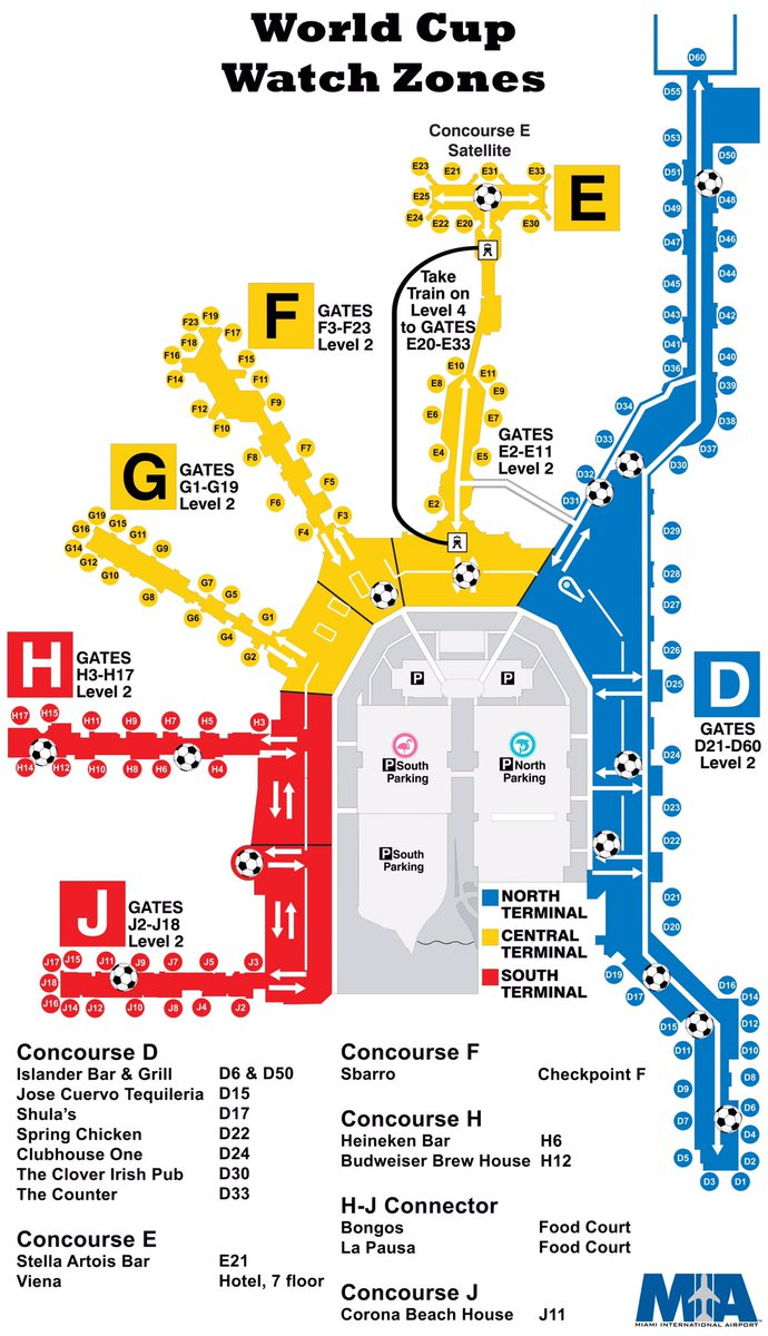 miami airport gate map Miami Int L Airport On Twitter Fifaworldcup Food Gooooaaaals Look For The On Our Map To Find Where You Can Watch The Worldcup Shopsatmia Https T Co Hi9pd48rgh miami airport gate map