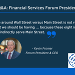 Image for the Tweet beginning: ICYMI, Financial Services Forum President