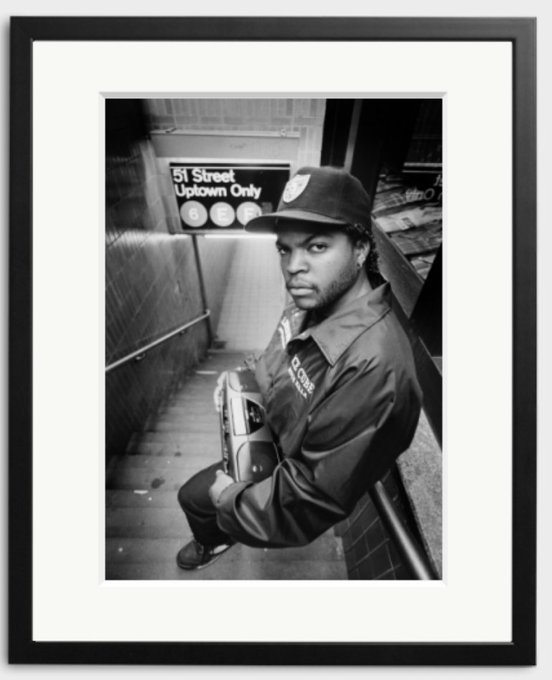 Happy 49th Birthday to Ice Cube. The rapper photographed by Kevin Cummins in 1989.