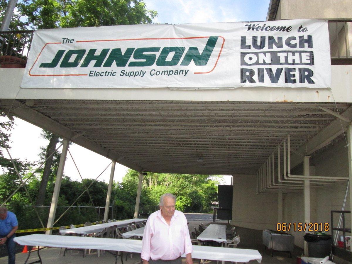 Getting ready for @JohnsonElec Lunch On The River event today. Welcome!...