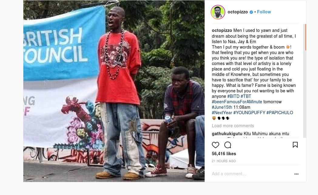 This Octopizzo #TBT Photo Has Left His Fans Speechless: https://t.co/BXrHWPhM2d #Kenya