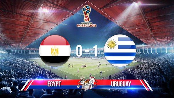 Chấm điểm kết quả Ai Cập 0-1 Uruguay