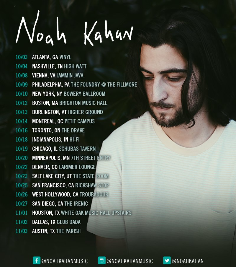 Sign Up For My Newsletter At Www Noahkahan Com Presale For Your Presale Code See Ya Therepic Twitter Com Ib5wvowwoi