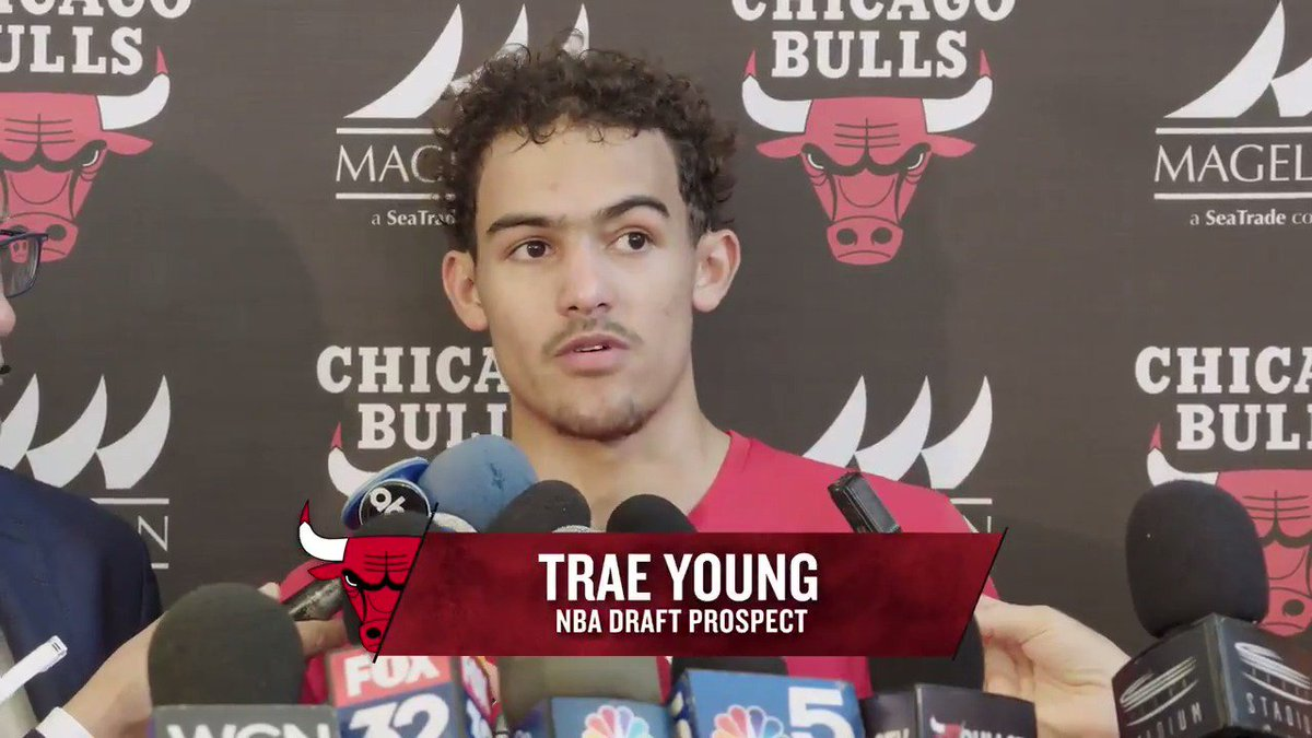 """My workout went really well. This is one of the best ones I've had so far."" Trae Young after yesterday's workout with the Bulls. WATCH:"