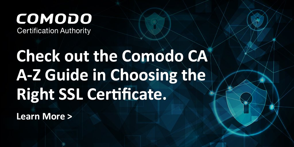 Comodo Ca On Twitter Want An A Z Guide In Choosing The Right Ssl