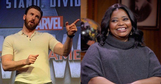 """Chris Evans jokingly called out Octavia Spencer for her not so \""""Happy\"""" Birthday message"""