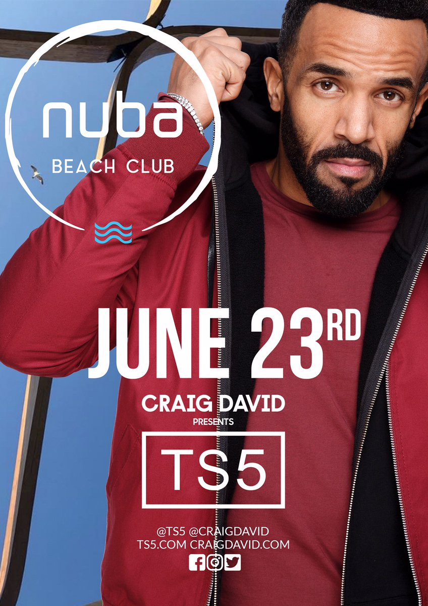 I'll be at Nuba Beach Club next Saturday 👏🏽🎶 Who's coming? #TS5 https://t.co/p9WnoESxeA