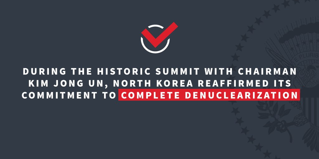 President Trump has taken a bold first step to denuclearize the Korean Peninsula. https://t.co/NRvL9o8YWK https://t.co/47Kz1ryuGk