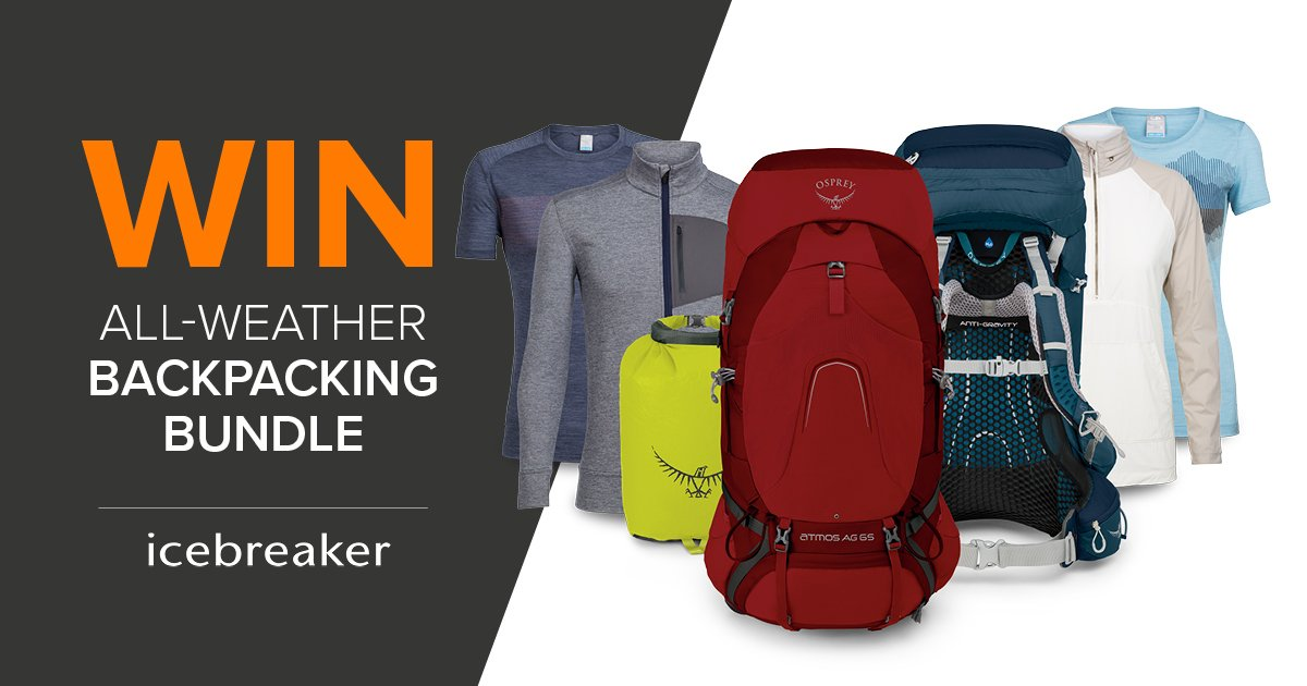 Osprey Europe On Twitter We Ve Teamed Up With Icebreakernz To Give You The Chance To Win An All Weather Backpacking Bundle You Could Win An Osprey Backpacking Pack Accessories And An Icebreaker Clothing