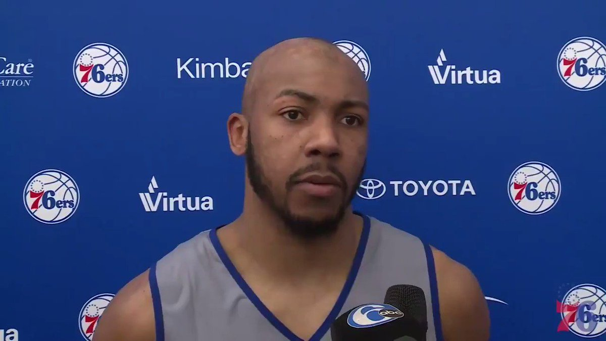 Jevon Carter has met with nearly half of the NBA teams prior to next weeks draft. On Wednesday, he met with the @sixers and spoke to the media.