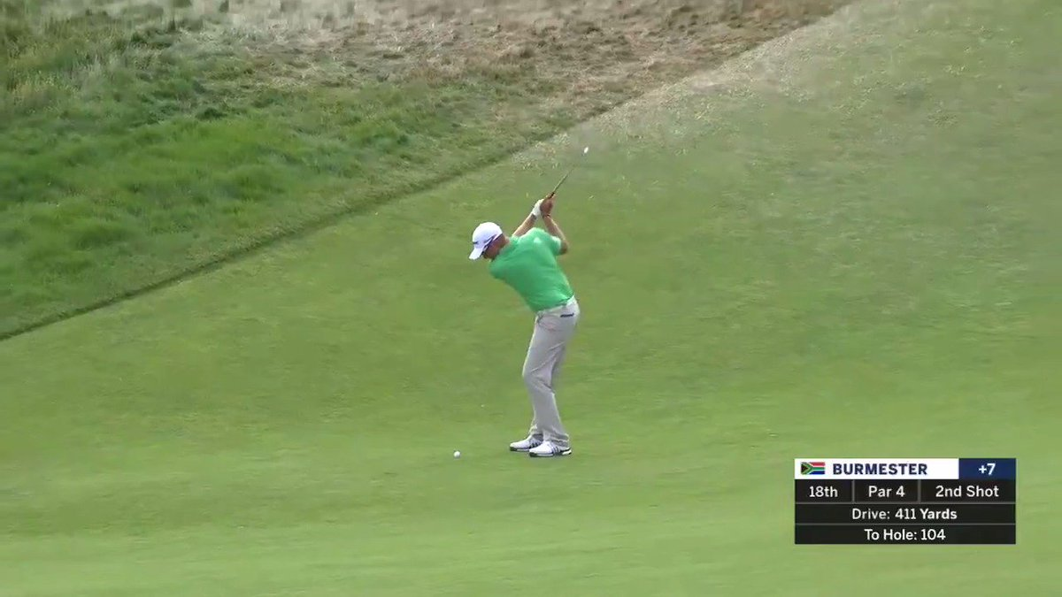 A slam-dunk eagle from @BurmyGolf to end Round One! Second Round coverage of the 2018 #USOpen continues all day on FOX and FS1