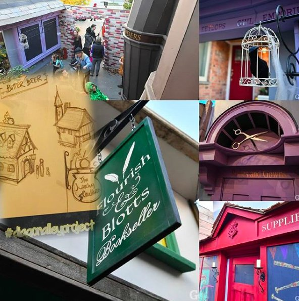 Theres magic at work in Seattle! @jk_rowling & #HarryPotter have joined the likes of @starwars & @Marvel in the @MoPOPSeattle Hall of Fame, and @dummaloops Diagon Alley Project spreads magic to @CampKorey! the-leaky-cauldron.org/2018/06/15/mag…