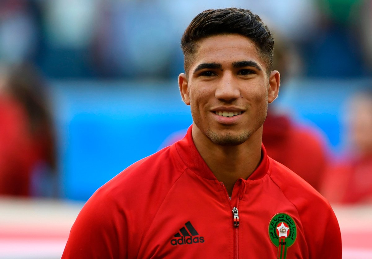 19-year-old Achraf Hakimi is the first teenager to represent Morocco at the World Cup. 🇲🇦 A future #UCL star for Real Madrid? 🤔
