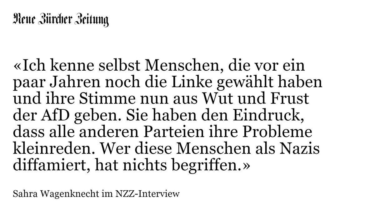 NZZ-Interview mit @SWagenknecht über die Ziele ihrer neuen linken Bewegung https://t.co/KyXehf3GCW @MarcFelixSerrao