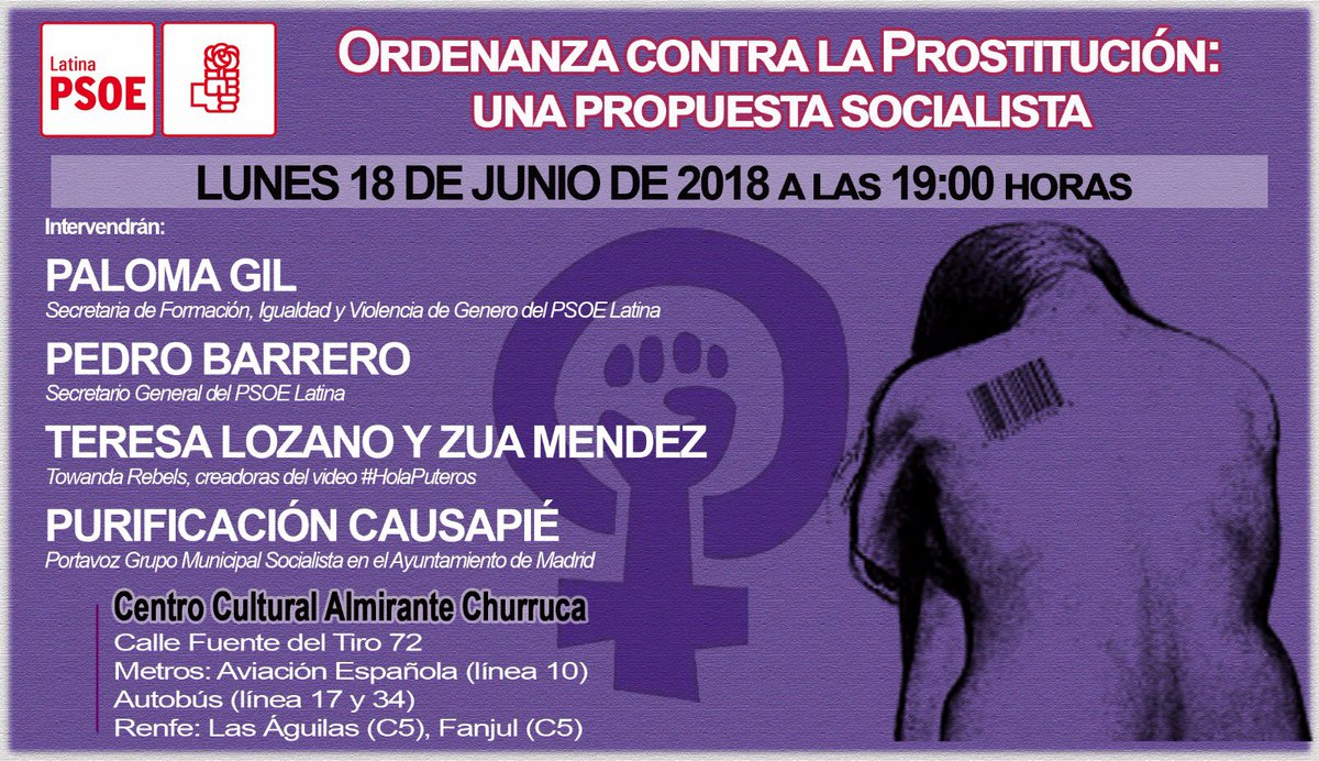 Cartel de una charla donde participan Towanda Rebels / FUENTE: PSOE La Latina