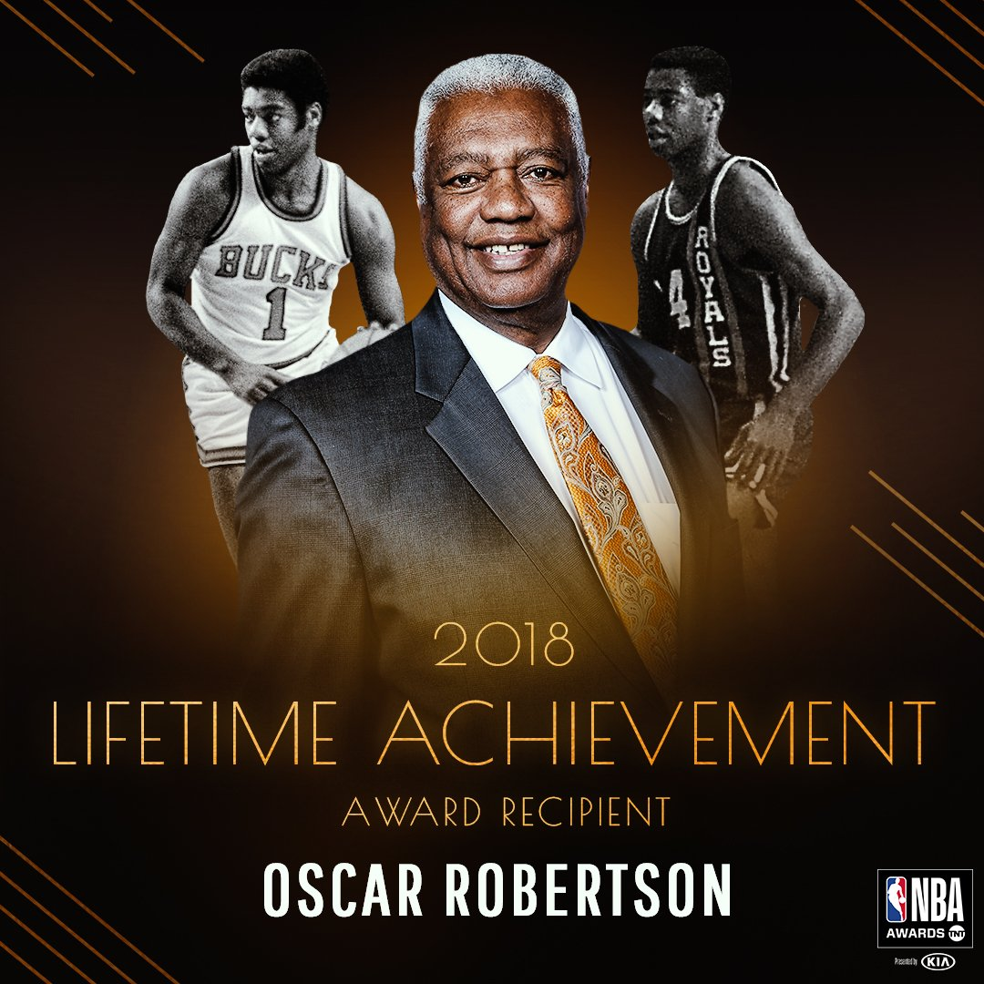Oscar Robertson will be honored with the 2018 Lifetime Achievement Award at the #NBAAwards - 6/25 on TNT!