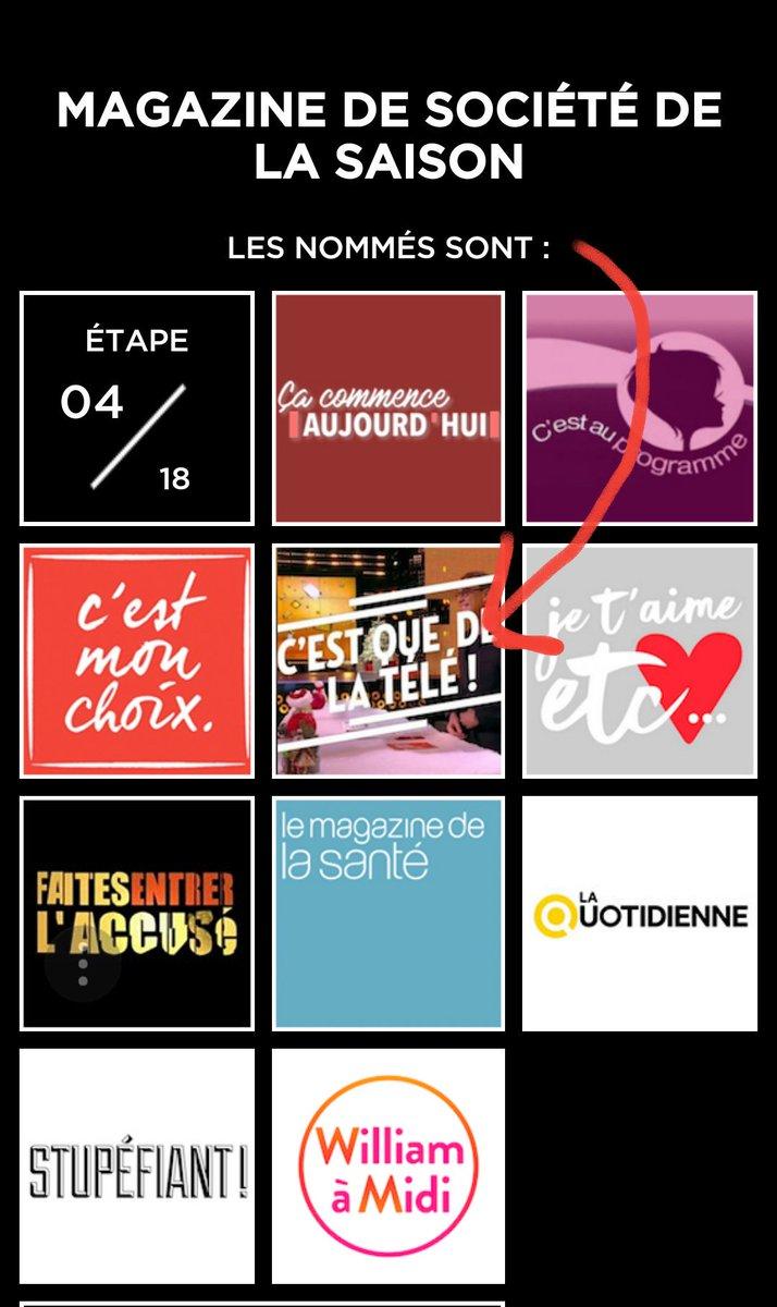 Les amis ! Et si on offrait un dernier petit cadeau à notre @courbet_julien en nommant #CQDLT meilleur magazine de société de la saison en votant pour les #TVNOTES2018 🎁▶ ozap.com/tvnotes