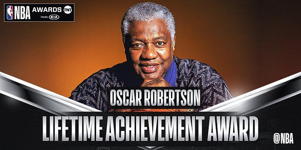 Oscar Robertson to receive Lifetime Achievement Award at 2018 #NBAAwards (6/25 @NBAonTNT)! on.nba.com/2JQzuoG