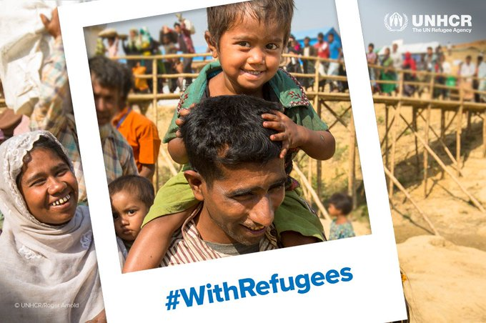 Now more than ever, we need to stand #WithRefugees. Please stand with us. Photo