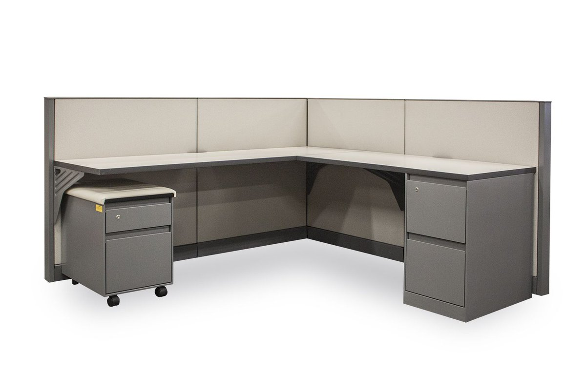 office work surfaces. Two Straight Work Surfaces, One File/File Pedestal, And Mobile Cushion Top Box/File Pedestal. BUY 3 AND GET 1 #FREE #Steelcase #workstations! Office Surfaces O