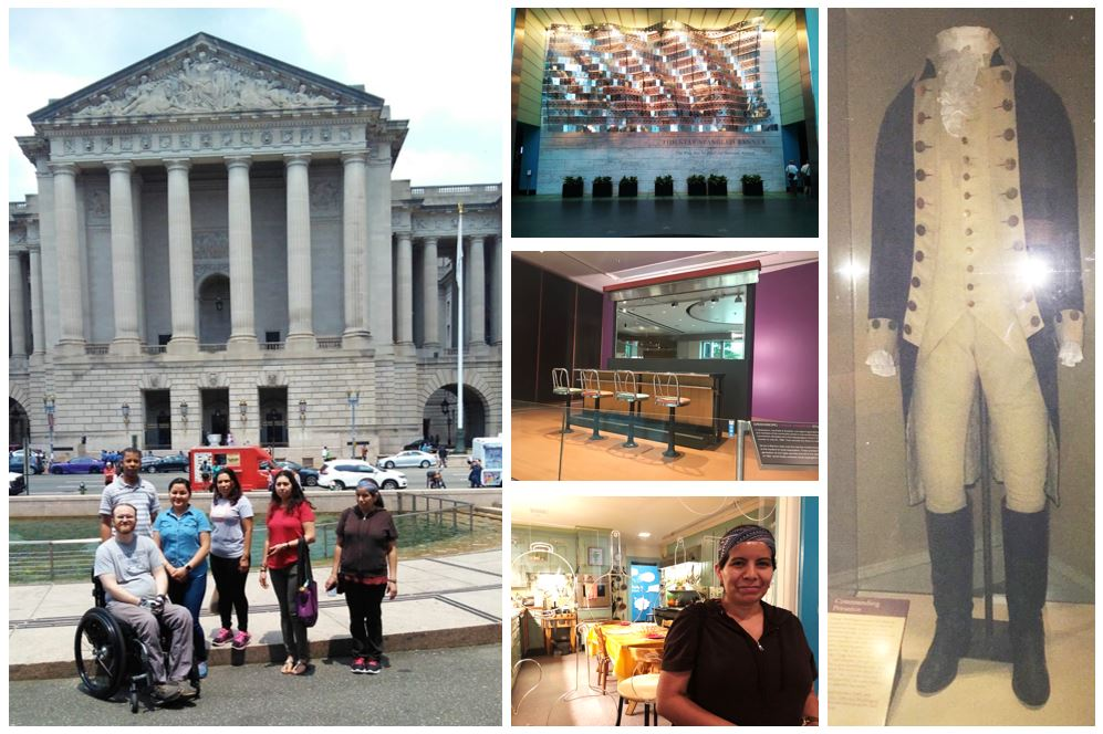 Field trip! History, <a target='_blank' href='http://search.twitter.com/search?q=civics'><a target='_blank' href='https://twitter.com/hashtag/civics?src=hash'>#civics</a></a>, and culture lessons pop off the page for TSTF 3B-4A-4B students on a visit to the National Museum of American History <a target='_blank' href='http://twitter.com/amhistorymuseum'>@amhistorymuseum</a> <a target='_blank' href='http://twitter.com/32BJTraining'>@32BJTraining</a> <a target='_blank' href='http://search.twitter.com/search?q=learningenglish'><a target='_blank' href='https://twitter.com/hashtag/learningenglish?src=hash'>#learningenglish</a></a> <a target='_blank' href='http://search.twitter.com/search?q=adultesl'><a target='_blank' href='https://twitter.com/hashtag/adultesl?src=hash'>#adultesl</a></a> <a target='_blank' href='https://t.co/O5W3NEpLZx'>https://t.co/O5W3NEpLZx</a>