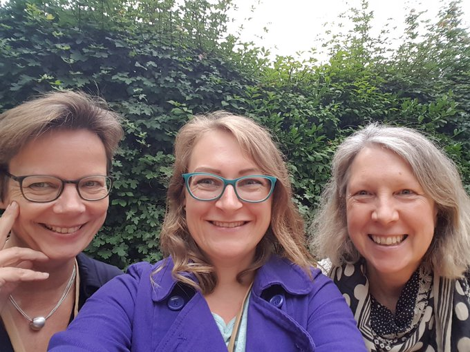 Es hat mich sehr gefreut euch zu sehen @Leopom & @KerstinKitzmann die Zeit war leider viel zu kurz! Euch noch viel Spaß auf der #cosca18 🌸 Foto