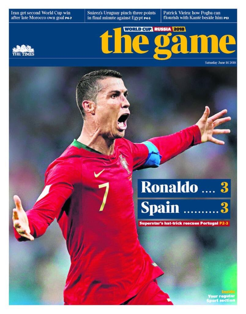 #WorldCup18 buy the Game tomorrow. Free in The Times