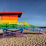 Image for the Tweet beginning: The Venice Pride Lifeguard Tower