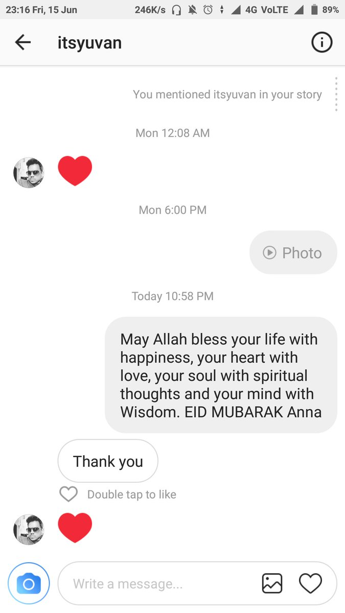 Nayayeѕn Yynan On Twitter Thank You Thisisysr Anna For Your Reply In Instagram A Very Happy Eid Mubarak To All Eidmubarak