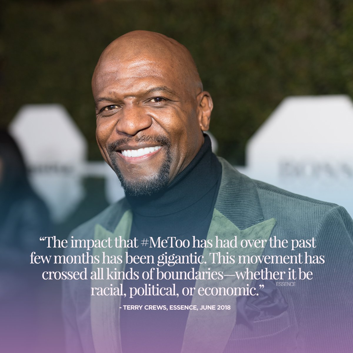 The #MeToo movement literally changed the world. (🗣️: @terrycrews)